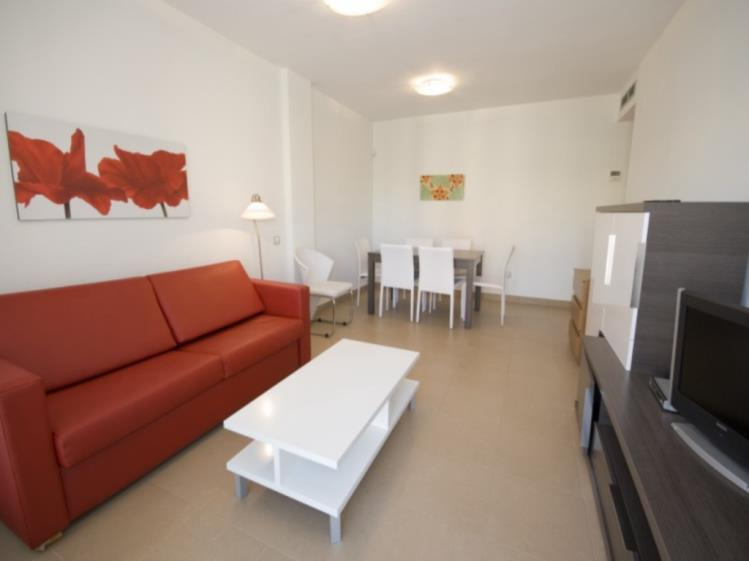 Salón comedor Apartamento 2 dormitorios (4-6 personas) Alcocebre Suites Hotel