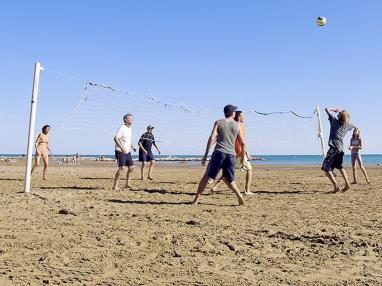 Voley Ball en la playa  Costa Azahar Alcoceber